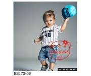 Baby Bear New York 48 Set Jeans with Suspender (BB17206)