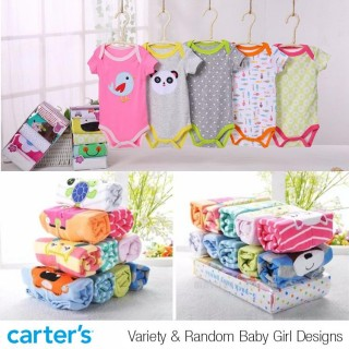Carters 5in1 Bodysuit Lengan Pendek Girl