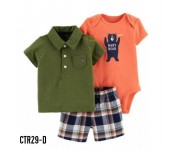 Carter Baby Set 3in1 Baby Bear Shirt Green CTR29D