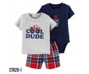 Carter Baby Set 3in1 Cool Dude Shirt Grey CTR29I
