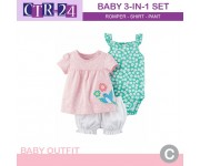 Carter Baby Set 3in1 Bird Flower Pink CTR24C