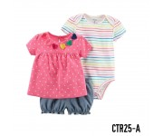 Carter Baby Set 3in1 Set Polka Love Pink CTR25A