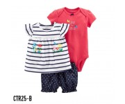 Carter Baby Set 3in1 Set Stipe Flowers CTR25B