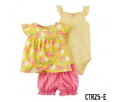 Carter Baby Set 3in1 Set Yellow Flowers CTR25E