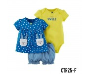 Carter Baby Set 3in1 Set Polka Rabbit Blue CTR25F