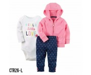 Carter Baby Set Jacket 3in1 Hello Little Love CTR26L