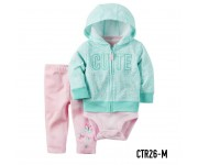 Carter Baby Set Jacket 3in1 Cute Green CTR26M