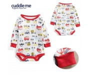 Cuddle me Bodysuit White Red Vehicle