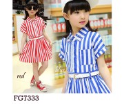 Dress FG7333 Blue (sz 5-10th)