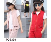 Setelan 3in1 FG7339 Pink (sz 5-10th)