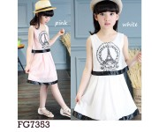Dress FG7353 White (sz 5-10th)