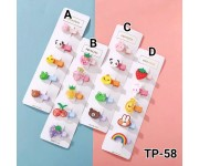 Jepit Anak 5in1 Animal and Fruits TP-58